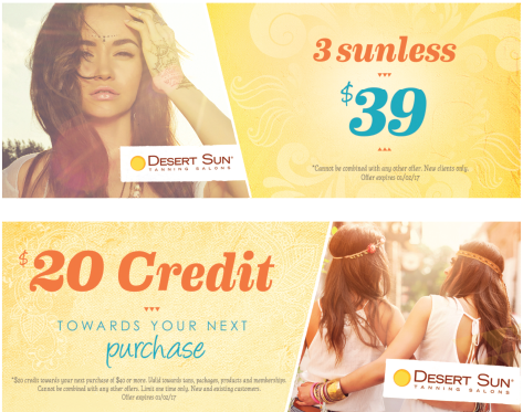 Discount coupons for desert tanning
