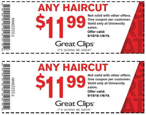 Discount coupons for hair cuttery