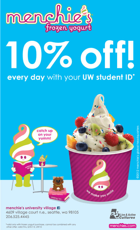 Frozen yogurt coupons