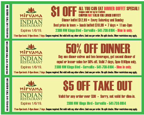 Cafe nirvana coupons