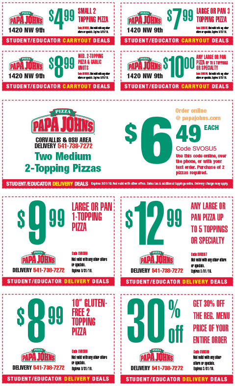 picture regarding Papa Johns Printable Menu called Papa johns deals coupon codes : Lax international