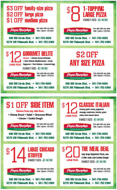 graphic regarding Papa Murphys Coupons Printable called Papa murphy pizza coupon codes / Double wall gl mugs