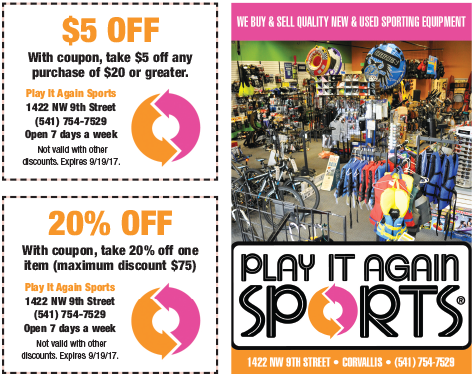 Play It Again Sports coupon - OSU Student Survival Kit