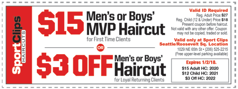 photo relating to Sports Clips Free Haircut Printable Coupon referred to as Recreation clips discount codes printable 2018 / Thick good quality gl coupon