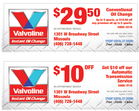 photo about Valvoline Instant Oil Change Coupons Printable identify Valvoline oil variance coupon : August 2018 Sale