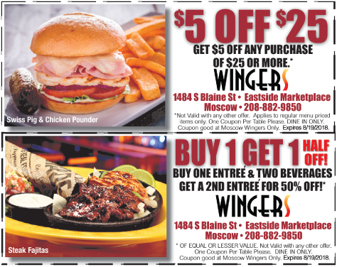 Wingers coupons